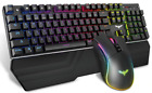 Keys Mechanical Gaming 104 RGB Light Blue / Red Switch Wired Keyboard and Mouse