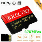 Micro Memory Card 256GB 4KHD Fast Flash TF Card with Adapter Fr Car Camera Phone