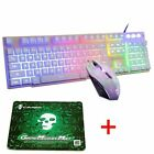 US Backlit Gaming Keyboard + Gmae Mouse + Mice Pad Set For PS4 Xbox One PC Mac