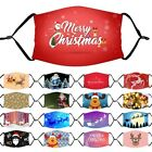 Christmas Print Adult Reusable Face Mask Mouth Nose Masks Breathable Washable