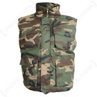 Camouflage M-89 Padded Vest Gilet Body Warmer Hunting Hiking - Woodland Camo