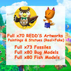 Museum ALL 70 Artworks🎨 73 Fossils 🐟Bug&Fish Model  -Animal Crossing:Horizons-
