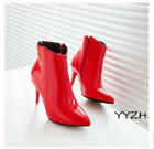 Women's Patent Leather Pointy Toe Side zip Ankle Boots High Heels Sexy Shoes New
