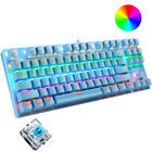US Mechanical Gaming Keyboard, 87 Keys Compact RGB Backlit for PC Game Ps4 Xbox
