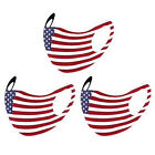 5pcs Face Mask Reusable Washable Mouth Cover Unisex Adult - Usa American Flag