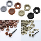 100 Hinged Snap Fold Insert Screw Cover Caps Washer Flip Top for Cars Furniture