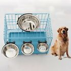 Dog Cat Stainless Steel Hang on Bowl For Pet Crate Cage Food Water Feed Bowl Hot