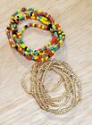 2 in 1 ELASTIC African Waist Beads Belly Hips Chain