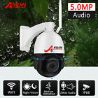 5.0MP Wireless Security Camera WiFi Dome 20xZoom Pan/Tilt Audio Smart Monitor IR