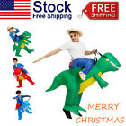 Ride On Dinosaur Costume Inflatable Blow Up Suit T-Rex Fancy Dress Party US