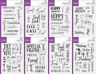 Crafter's Companion Photopolymer Stamp - Mix  Match Sentiments