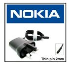 Genuine AC-15x Thin Pin (2mm) Mains Charger with UK 3-Pin Plug for Nokia Phones