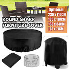 2.3m Outdoor Furniture Round Cover Waterproof Garden Table Chair Shelter Protect