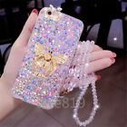 Bling Crystal Ring Stand With strap Glitter Case Cover For LG Stylo 6/5/MOTO G9+