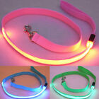 EE_ AM_ EE_ Pet Dog LED Flashing Light Nylon Safety Anti-lost Leash Lead Rope Be
