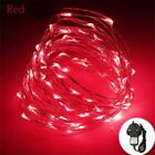 LED Waterproof Plug In Fairy String Lights Outdoor Garden Xmas Decor + UK Mains