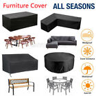 Waterproof Garden Patio Furniture Cover Table Sofa Bench Chair Set Cover Outdoor