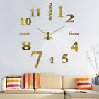 DIY 3D Frameless Number Wall Clock Mirror Sticker Home Office Room Unique Decor