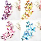 12pcs 3d Colourful Butterflies Decal Wall Stickers Home Bedroom Decoration