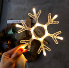 LED Christmas Lights Indoor Window Decorations with Suction Cup Xmas Decor UK