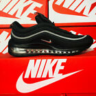 Nike Air Max 97 Triple Black With White Strip Fitness Shoes UK Size from 4.5-10