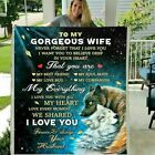To My Gorgeous Wife Never Forget That I Love You My Everything Wolf Blanket