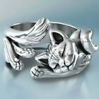 925 Silver Cute Cat Animal Rings For Women Jewelry Ring For Mother Size 5-11