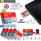 Memory SD Card 256GB 4K Class10 280MB/s High Speed Flash Card with Adapter USA