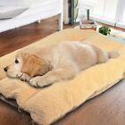 Large Soft Convex/Concave Dog Bed Pet Puppy Faux Fur Washable Plush Cushion Mat