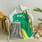 Shark dinosaur Teddy Fleece Weighted Blanket Kids Sleep Therapy Anxiety Throw