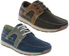 Roamers Moccasin Boat Shoes Leather Lined Lightweight Lace Mens Leisure Trainers