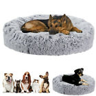 Bicolor Soft Plush Calming Dog Bed Nest Sleeping Bag Basket Mattress Waterproof