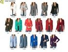 Women Lightweight Rayon Long Sleeve Open Front Shawl Collar Cardigan Missy Loose