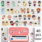 40Pcs/Set Cartoon BTS Stickers for Mobile Phone Waterproof Hand Account Stickers