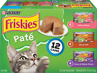 (24) 5.5 Oz Cans - Purina Friskies Wet Cat Food Variety Pack real meat