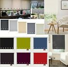 Roller Blinds Square Eyelet Edge Easy Fit Trimable Window Blind Home Office New