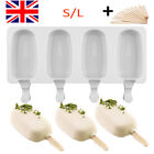 'Silicone Ice Cream Mould Popsicle Lolly Frozen Dessert Maker Cakesicles Tray Uk