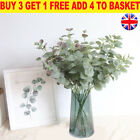 Uk Artificial Fake Leaf Eucalyptus Green Plant Silk Flowers Nordic Home Decor