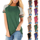 Women Summer Short Sleeves T Shirt Casual Blouse Loose Pullover Plus Size Tops