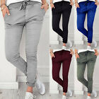 Ladies Drawstring Elastic Waist Jeans Trousers Womens Casual Pencil Pants Sports