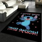 I Love You This Much Movie Area Rug, Living room and bedroom Rug