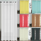 Curtains Top Eyelet Ring Ready Made Curtain Voile Net Blackout Kitchen Bedroom