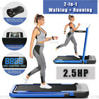 ANCHEER 2 In 1 Folding Treadmill 2.5HP Electric Running Machine with Bluetooth^