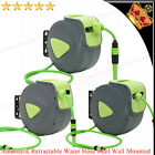 10m 20m & 30m Auto Retractable Wall Mounted Water Hose Reel Watering Spray Tool