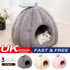 UK Cat Pets Dog Warm House Cave Beds for Indoor Cats Cozy Wool Igloo Nest Kennel