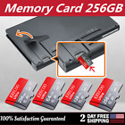 256GB Micro Memory SD Card 100MB/S Fast TF Card Class10 HC HD 4K with Adapter