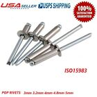3mm 3.2mm 4mm 4.8mm 5mm DOME HEAD OPEN BLIND POP RIVETS STAINLESS STEEL ISO15983
