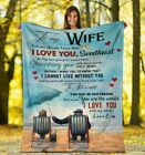 To My Wife Gift From Husband Sherpa Fleece Blanket I Love You