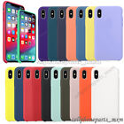 For iPhone XR X XS Max 8 7 Plus Liquid Silicone Shockproof Soft Case Cover
