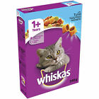 Whiskas 1+ Complete Adult Cat Dry Food Biscuits with Tuna Duck 340g x 5 Pack